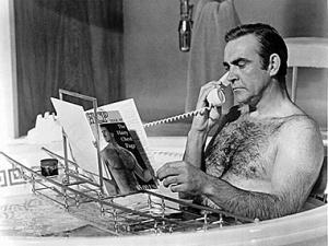 Phone call bathtub